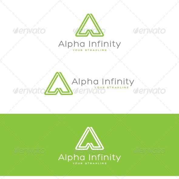 Alpha Infinity Letter A Logo