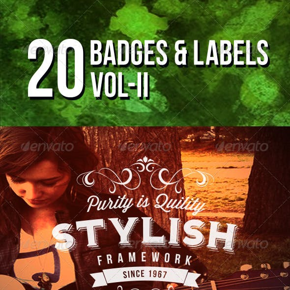 20 Badges and Labels Vol II