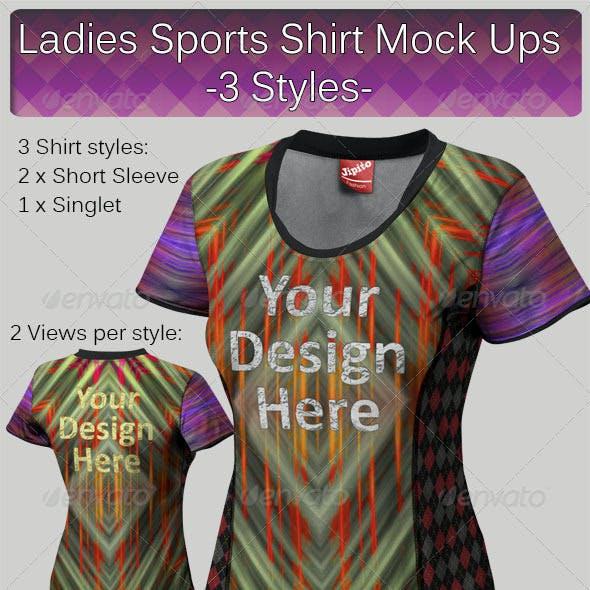 Ladies Sports Shirt Mock Ups