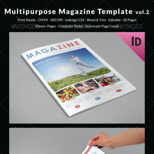 Multipurpose Magazine Template vol.2