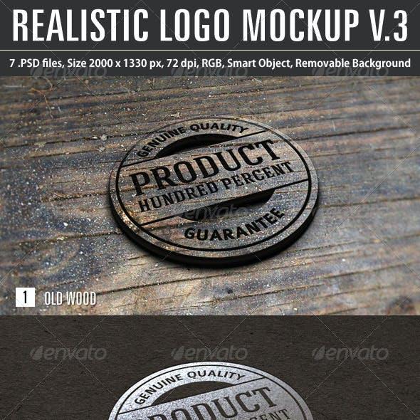 Realistic Logo Mockup v.3
