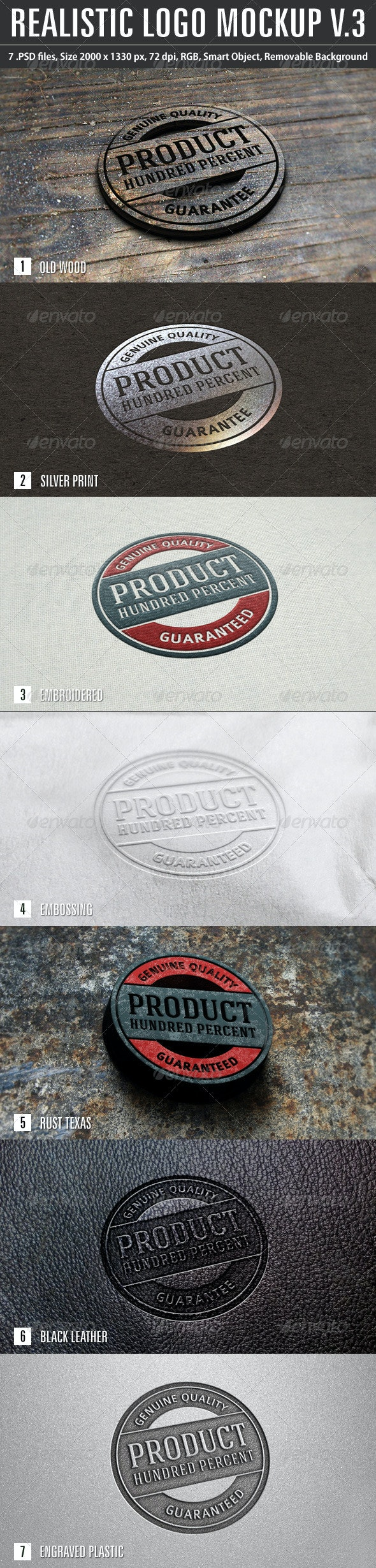 Realistic Logo Mockup v.3 - Logo Product Mock-Ups