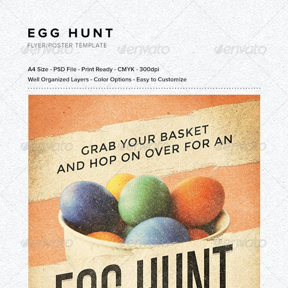 Egg Hunt Flyer/Poster Template