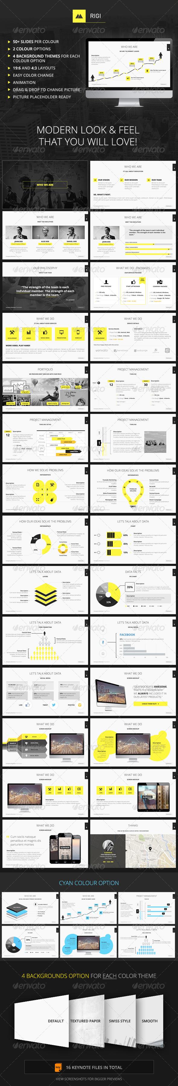 RIGI - Keynote Template - Keynote Templates Presentation Templates