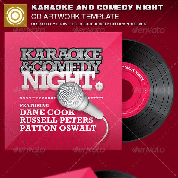 Karaoke and Comedy Night CD Artwork Template