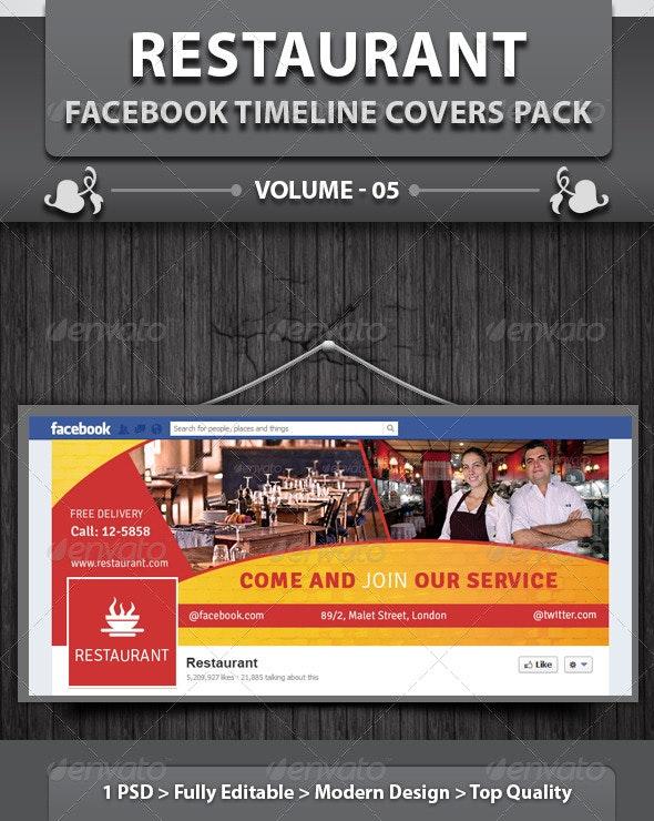 Restaurant Business FB Timeline | Volume 12 - Facebook Timeline Covers Social Media