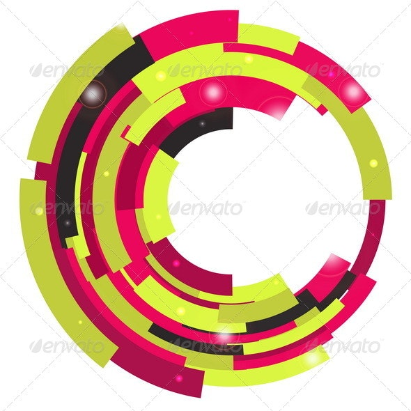 Abstract Retro Technological Background - Backgrounds Decorative