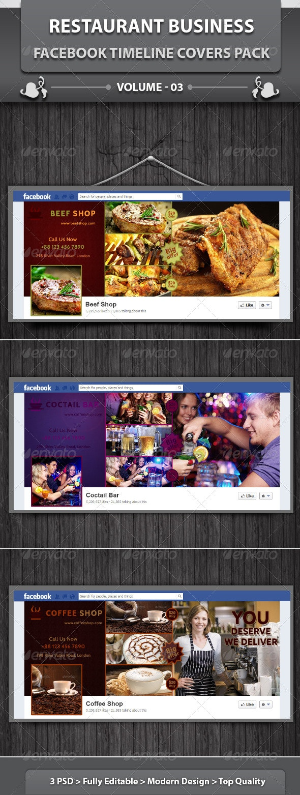 Restaurant Business FB Timeline   Volume 8 - Facebook Timeline Covers Social Media