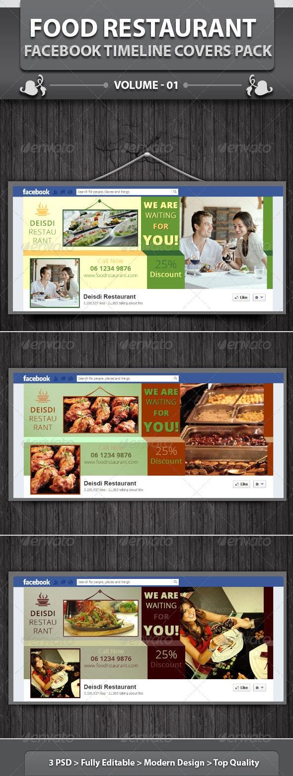 Restaurant Business FB Timeline   Volume 4 - Facebook Timeline Covers Social Media