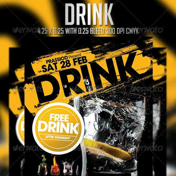 Drink Flyer Template