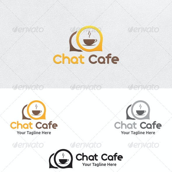 Chat Cafe - Logo Template