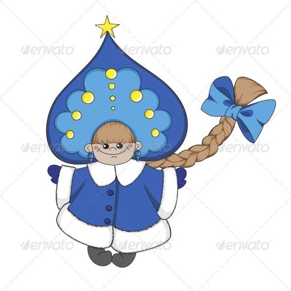 Cartoon Snow Maiden