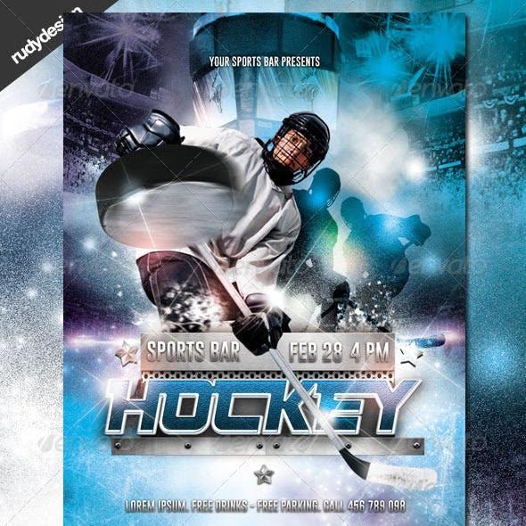 Ice Hockey Flyer Design