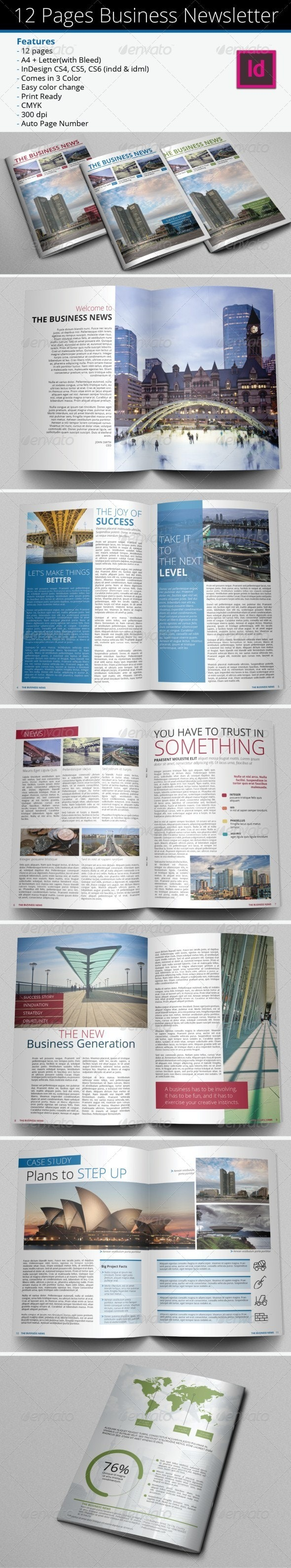 12 Pages Business Newsletter