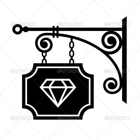 Ancient Street Signboard of Jeweler