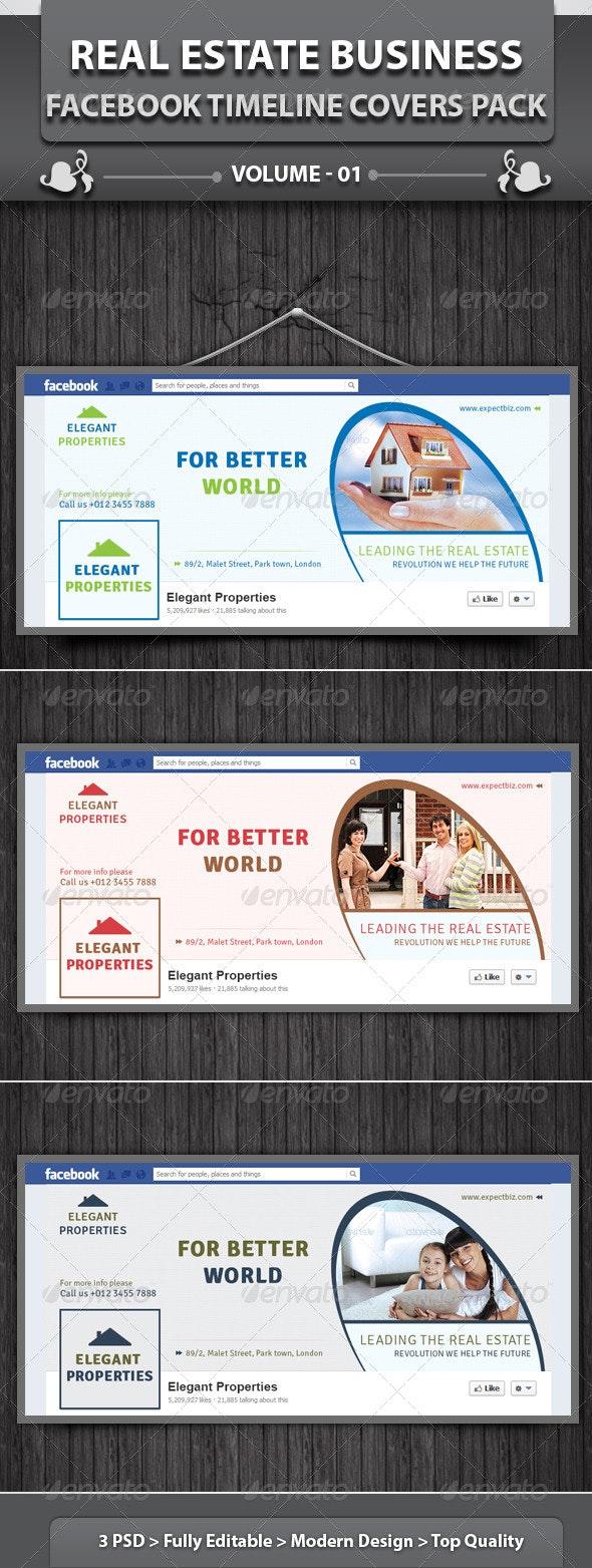 Real Estate Business FB Timeline | Volume 2 - Facebook Timeline Covers Social Media