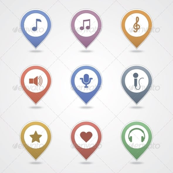 Mapping Pins Icon