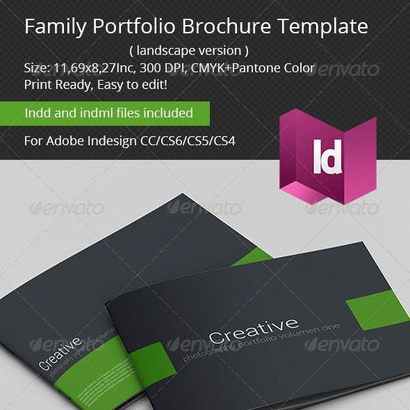 Family Portfolio Brochure Template