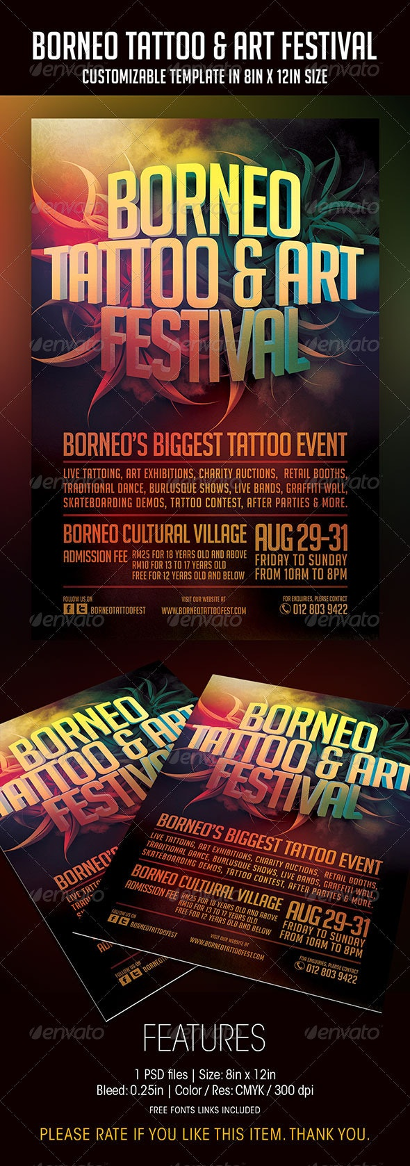 Tattoo And Art Festival Flyer - Events Flyers