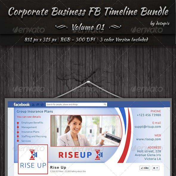Corporate Business FB Timeline Bundle | Vol 1