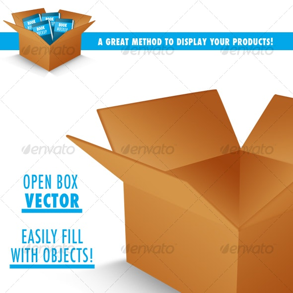 Open Box (PSD vector) - Miscellaneous Packaging