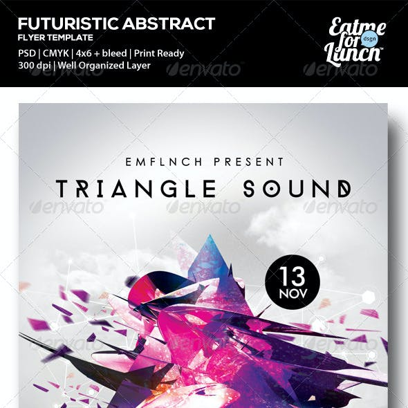 Futuristic Abstract Gigs Flyer Templates