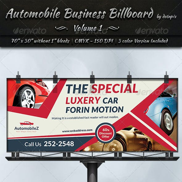 Automobile Business Billboard | Volume 1