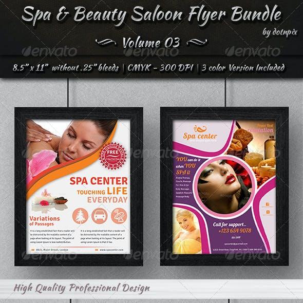 Spa & Beauty Saloon Flyer Bundle | Volume 3