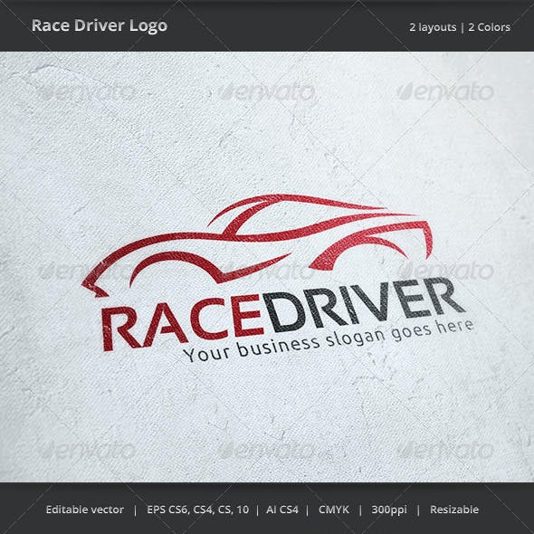 Race Car Driver Logo