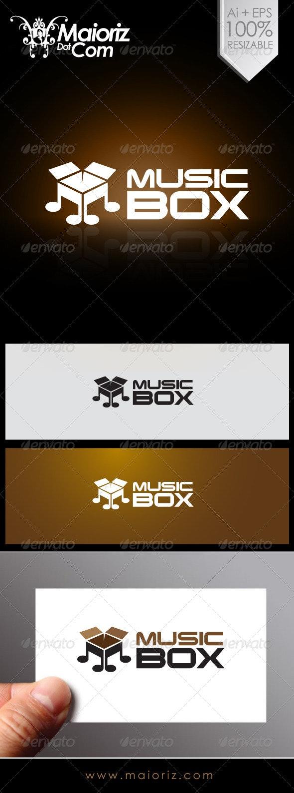 Music Box Logo - Objects Logo Templates