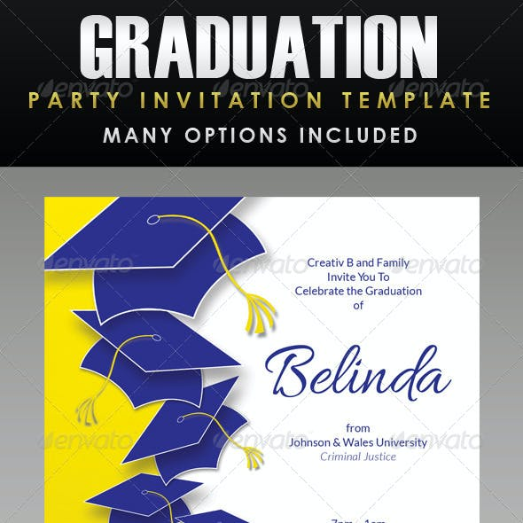 Graduation Party Invitation Template - 1