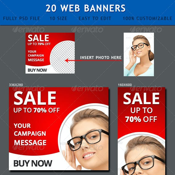 Sales Website Banner Ads