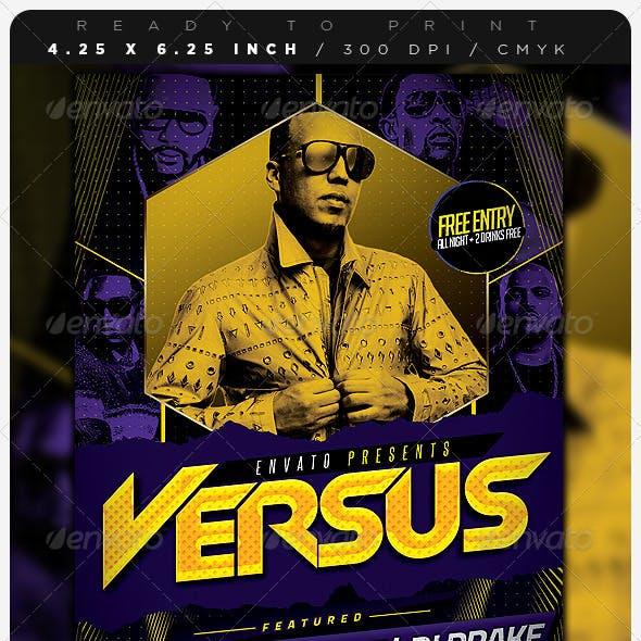 Versus Hip Hop Party Flyer