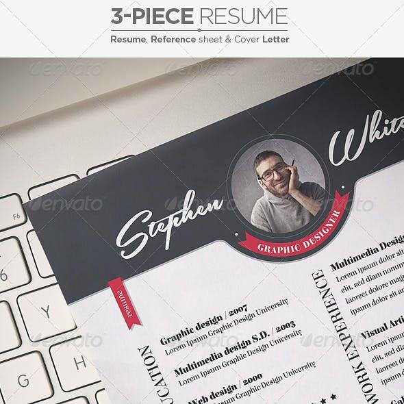 3-Piece Resume / CV Set
