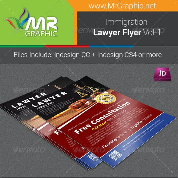 Immigration Law Flyer Template Vol-1
