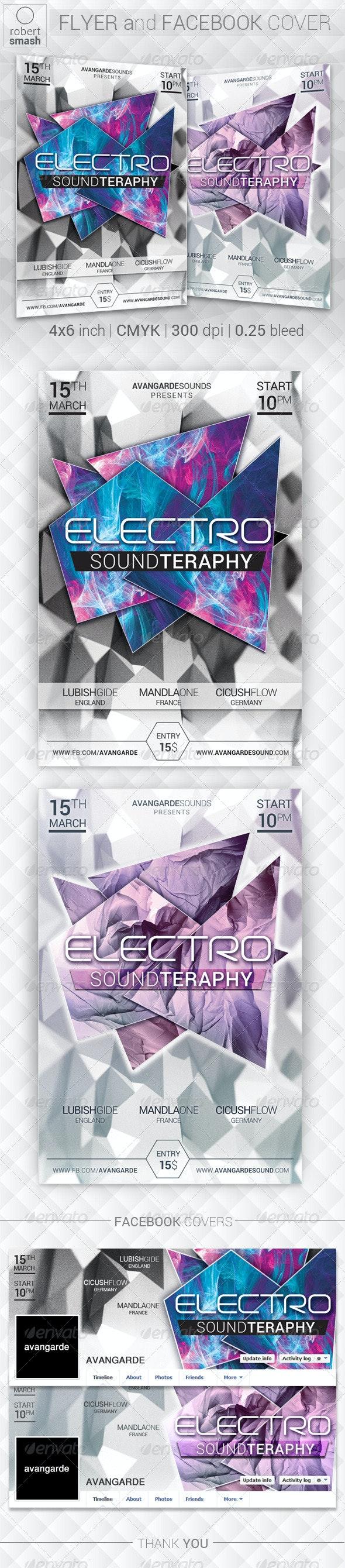 Electro Sound Teraphy Flyer - Clubs & Parties Events