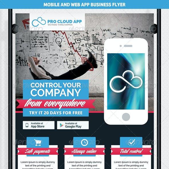 Mobile & Web App Business Flyer