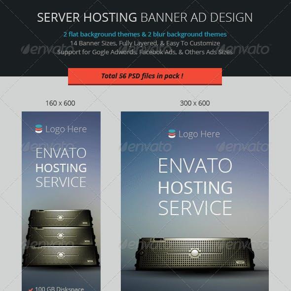 Server Hosting Banner ad Design