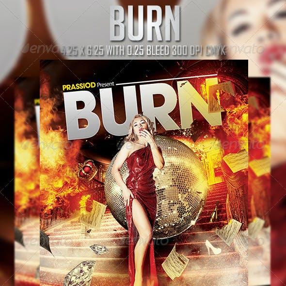 Burn Flyer Template