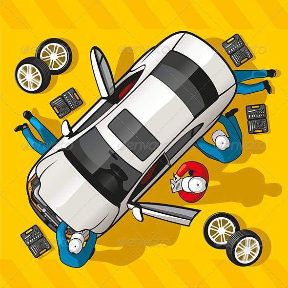 Repair Car Station