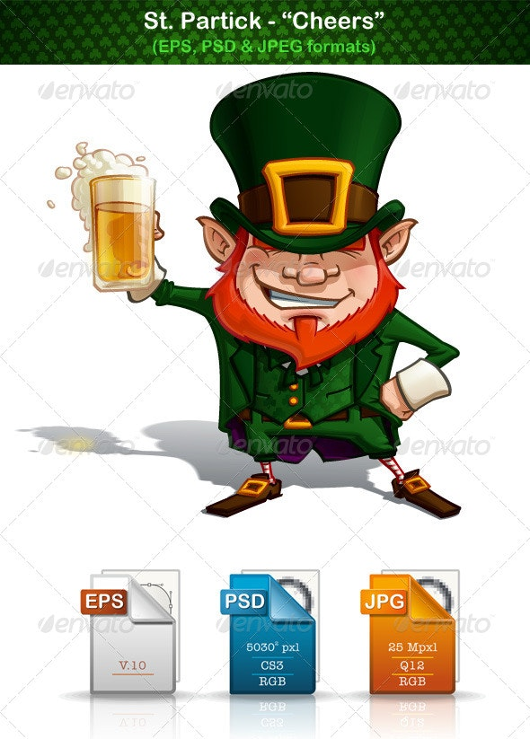 "St. Patrick ""Cheers"" - People Characters"