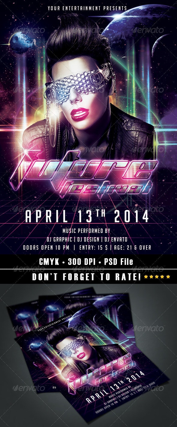 Future Festival Flyer - Clubs & Parties Events