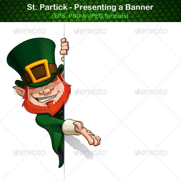 St. Patrick Presenting a Banner