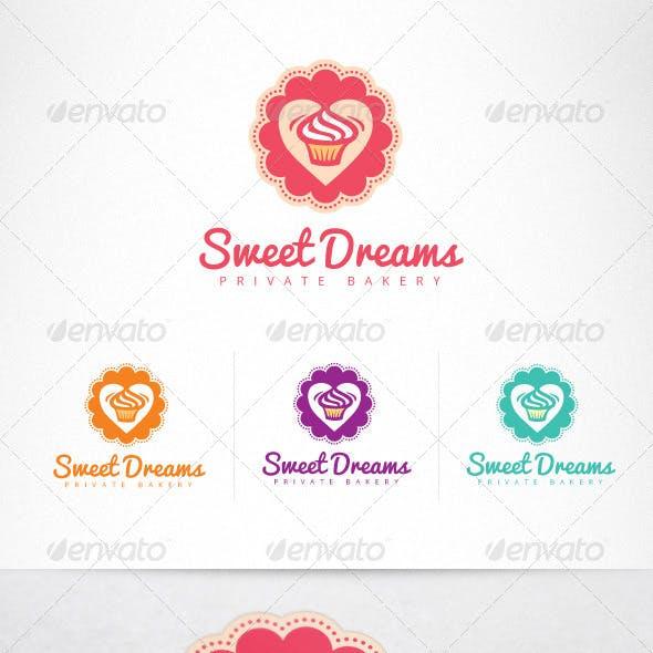 Cupcake Confectionery Sweet Shop Logo