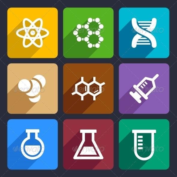 Chemical  Flat Icons Set 50 - Web Icons