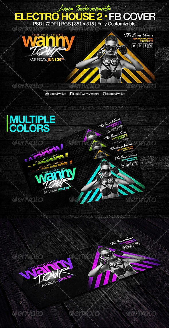 Electro House 2 | Facebook Cover - Facebook Timeline Covers Social Media