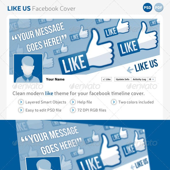 Like Us Facebook Cover Template