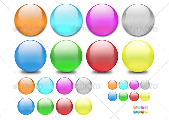 Classic Web 2.0 Shiny Orbs - Decorative Symbols Decorative