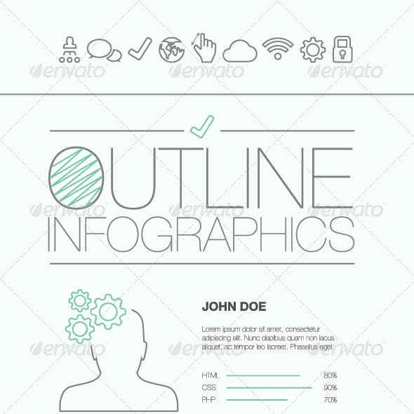 Outline Infographics Vector Illustration