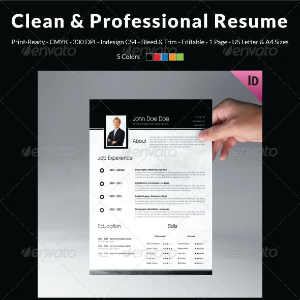 Clean & Professional Resume Template